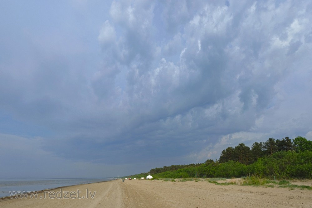 Cloudy Skies, Seashore