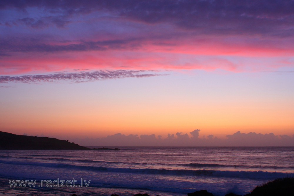 Porthmeor beach Sunset, St. Ives, Cornwall