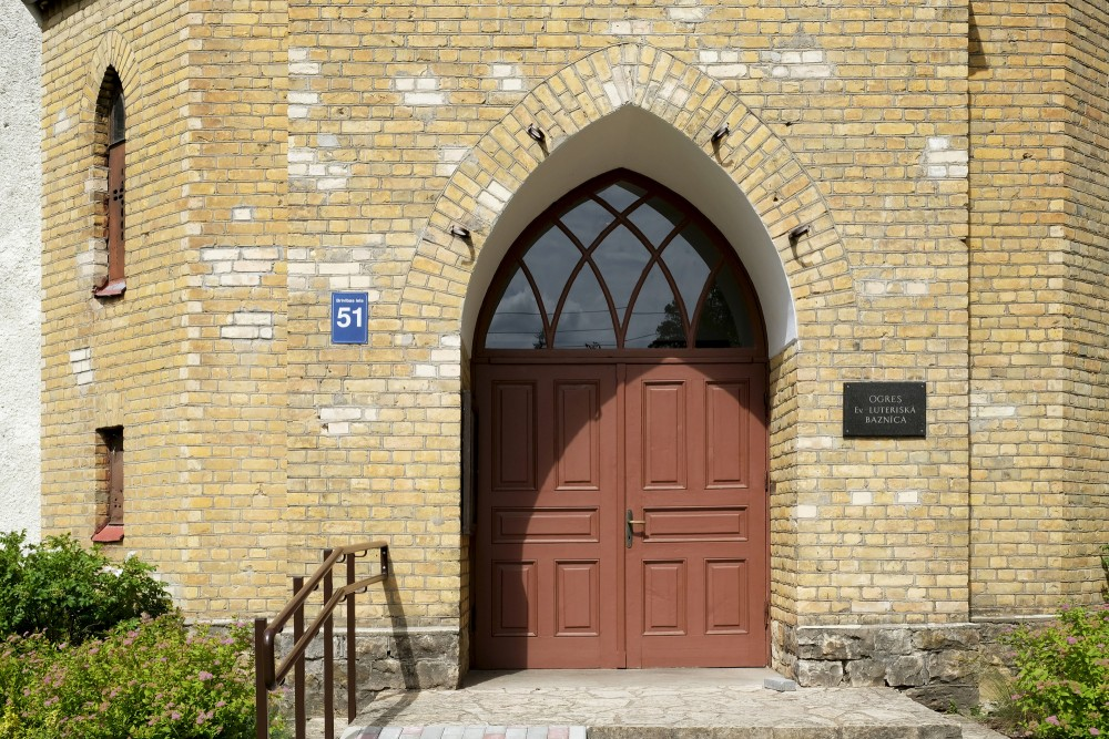 Entrance Portal Of Ogre Lutheran Church