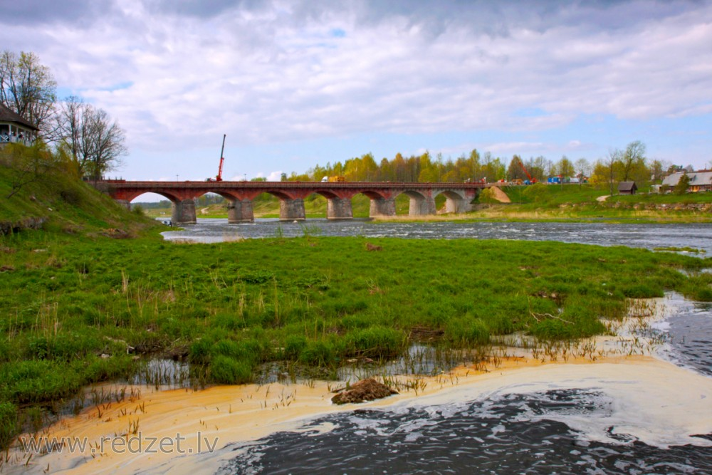 Brick Bridge across the Venta river, Latvia