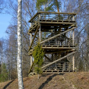 Kaņieris Lake Hillfort Watching Tower
