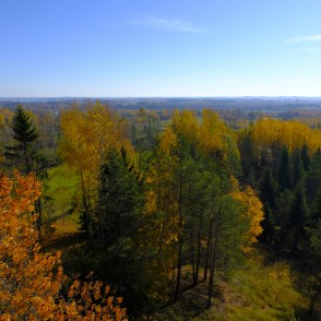 View from the Brezga Watchtower, Latvia
