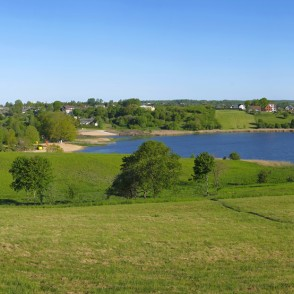 Panoramic View Of Saldus And Lake Saldus