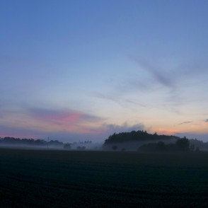 Countryside Panorama After Sunset