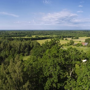Panoramic view from the Meņģele Observation Tower