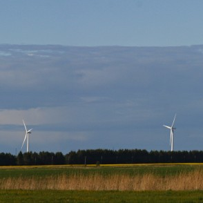 Panorama with Wind Turbines