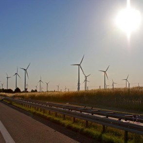 Landscape with Wind Power Generators in Poland