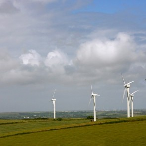 Landscape with Wind Power Generators in Great Britain