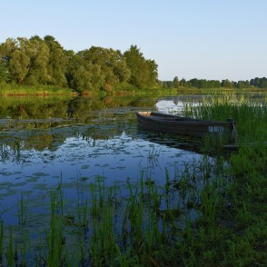 Boat on the Dubna River