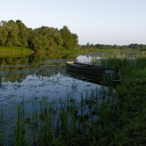 Dubna River and Boat