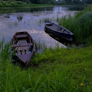 Boat on the River Dubna