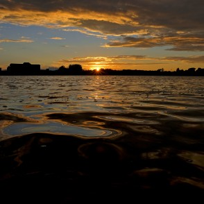 Sunset River Daugava Landscape