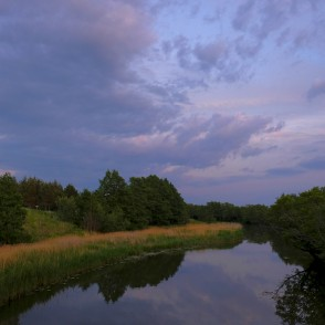 Užava River in the Evening, Glorious Sky