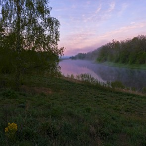 Sunrise On The Venta River, Latvia