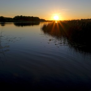 Sunset River Daugava in Līvāni municipality