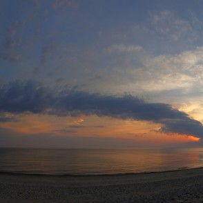 Sunset panorama in the Baltic Sea, Glorious Sky