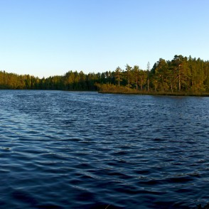 Panorama of Lake Dižiere, Latvia