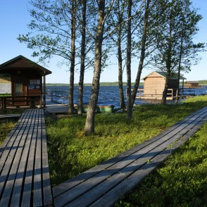 Camping Houses On The Shore Of Lake Lielauce