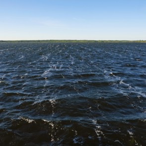 Lake Lielauce in Windy Weather