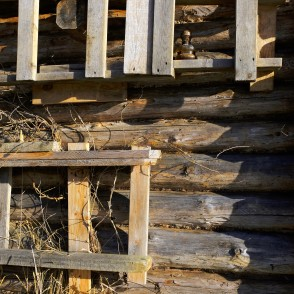 Fragment of a Log House