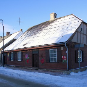 Wooden Building in Riga Street in Bauska