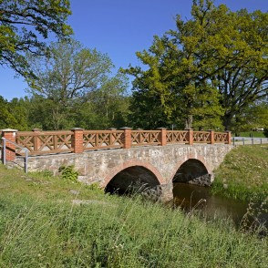 Stone Bridge Over The Auce River, Latvia