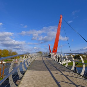 Pedestrian Bridge Mitava (Jelgava) and Pasta sala (Post Island)