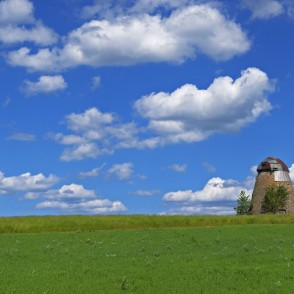 Panoramic Landscape With Ive Windmill