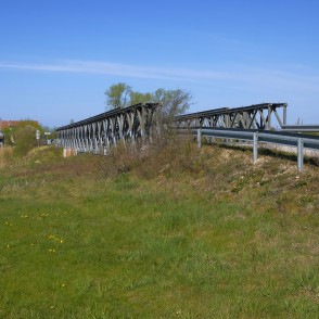 Metal Bridge Over The Pape Canal, Latvia