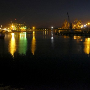 Port of Ventspils at Night
