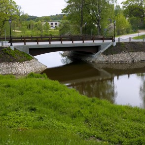 Timber-concrete composite bridge, Jaunpils, Latvia