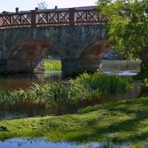 Stone Bridge Over The Auce River, Bēne, Latvia