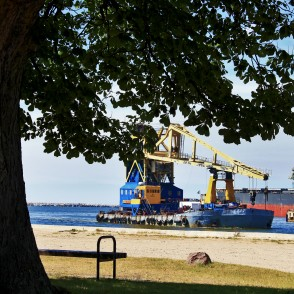 Floating Crane in Ventspils' Port