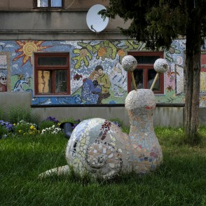 "Mosaic ""Seven Days"" And Snail Sculpture In Kandava"