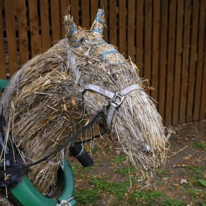 Straw Horse at Guest House ''Leču Muiža''