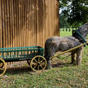 Straw Horse with Cart