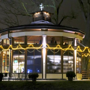 "Tea House ""Silva"" Dressed up for Latvian Birthday"
