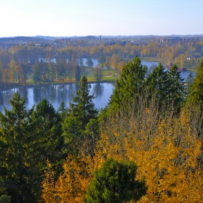 View from Watchtower to Alūksne, Latvia